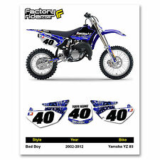 2002-2014 YAMAHA YZ 85 Bad Boy Number Plates Graphics by Enjoy Mfg