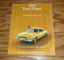 Original 1975 Ford Pinto Sales Brochure 75