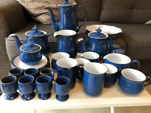 Assorted Imperial Blue Denby Crockery, approx 30 pieces.