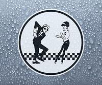 Ska man & Beat girl decal sticker printed vinyl - 2-tone rude boy mod