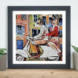 GILLIE AND MARC | Direct from Artists | Ltd Ed Print | Vespa | Dog Rabbit