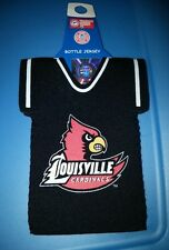 UNIVERSITY OF LOUISVILLE CARDINALS U of L JERSEY GLASS BOTTLE KOOZIE