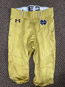 2015 UNDER ARMOUR TEAM ISSUED NOTRE DAME FOOTBALL PANTS #68/110