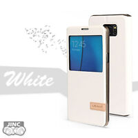White S-VIEW Book Case Cover Pouch for Samsung SM-N9208 Galaxy Note 5/Note5 DUOS