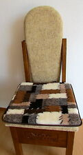 Seat Cushion 2 Pieces PATCHWORK 40x40 cm Pillow Car Seat Cushion 100% Wool