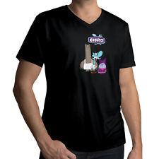 Chowder Cartoon Logo Title Schnitzel Mung Daal Chef Cook Mens Tee V-Neck T-Shirt