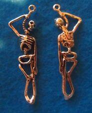 Charm Skelton Pendant Bones Pendant  Antique Silver Human Body Charm Anatomy