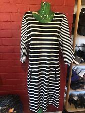 Sussan Black White Striped Dress Sz XL