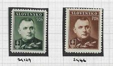 SLOVAKIA, 1939, Tiso Definatives, Mi 67-68, Mounted Mint.
