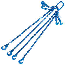 "5/16"" x 6' G100 Adjustable Chain Lifting Sling with Sling Hook Quadruple Leg"
