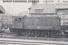 AK UNREAD Morop Congress; Sweden litt. V 3 29 Baden Model järnvägs (G2563)