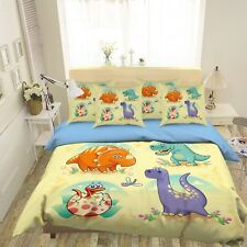 3D Dinosaur 42 Bed Pillowcases Quilt Duvet Cover Set Single Queen King Au Carly