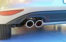 Chrome Rear Exhaust Muffler Trim Pipe Tip For VW MK6 MK7 Golf6 Golf7 2009-2016