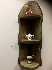 Rough Sawn Modern Rustic Vintage HANDMADE CORNER SHELF UNIT Floating Shelf