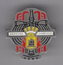 RARE PINS PIN'S .. POMPIER FIRE CASERNE HACHE BLASON PAS DE CALAIS LENS 62 ~EK