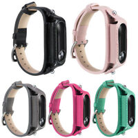 Watch Bracelet Replacement Leather Wrist Band Strap For Mi Band 2 Smart Tracker