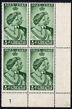 Gibraltar 1946 ½d Green Royal Wedding Corner Block SG 134 Unmounted Mint