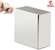 "Max Magnets Super Strong Large 1.5"" Neodymium Large Block 40x40x20 Rare Earth"