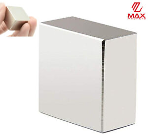 """Max Magnets Super Strong Large 1.5"""" Neodymium Large Block 40x40x20 Rare Earth"""
