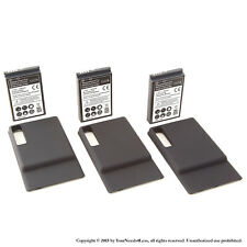 3 x 3500mAh Extended Battery for Motorola Droid 3 XT862 Black Cover