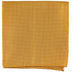 New Men's poly Pocket Square Hankie Handkerchief Yellow checkers formal