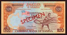 Samoa 20 tala (2002) specimen pick 35as