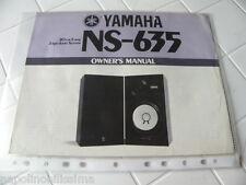 Yamaha NS-635 Owner's Manual  Operating Instructions Istruzioni   New