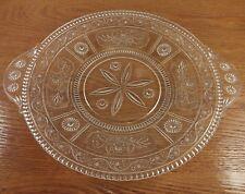 """EAPG Antique Bryce Glass Willow Oak, Oak Leaf 11"""" Handled Plate(s) Ci 1890"""