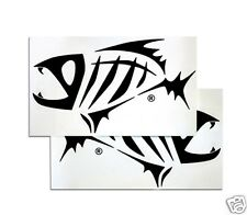 G. LOOMIS SKELETON FISH BOAT STICKER SET - BLACK