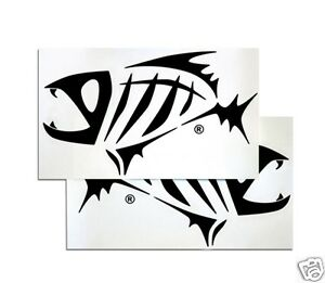 G. LOOMIS SKELETON FISH BOAT STICKER SET - BLACK