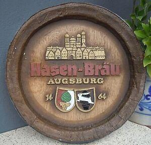 Brauerei Fass Boden Bierfass Bayern Hasen-Bräu Augsburg Schild Deko