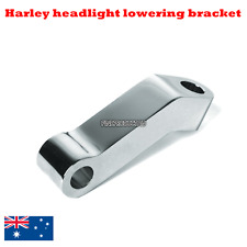Chrome CNC headlight lowering mount bracket Harley springer softail FXSTS 88-92