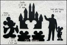 Die Cut Disney Mickey Castle Walt & Tickets Silhouette Scrapbook Paper Piecing