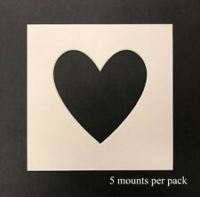 8 x 8 inch Heart Shaped  Mounts to fit 6 x 6 inch  Photo & Picture - 5 PACK