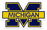Michigan Wolverines Logo Type Magnet: Michigan Football MAGNET