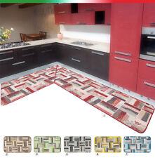 Tappeto cucina toppe angolare o passatoia su misura metro bordata mod.CHALET39