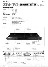 ROLAND GM-70 Schematic Diagram Service Manual Schaltplan Techniques