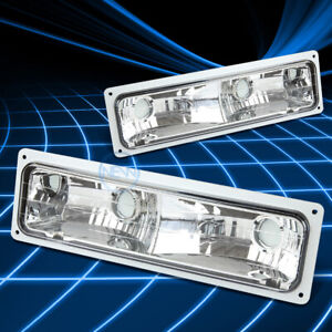 CLEAR LENS BUMPER PARKING TURN SIGNAL LIGHT LAMP SET FOR 88-98 CHEVY/GMC PICKUP