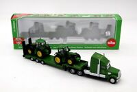 Siku 1837 Low Loader With 2 John Deere Tractors Toys Collection Car Diecast 1:87