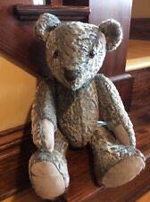 German mohair hand sewn Steiff replica folk art teddy bear no tags (IS-239)