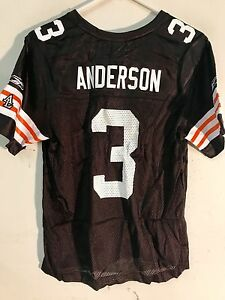 Reebok Women's NFL Jersey Cleveland Browns Derek Anderson Brown sz S