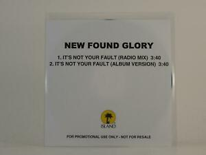 NEW FOUND GLORY IT'S NOT YOUR FAULT (H1) 2 Track Promo CD Single White Sleeve IS