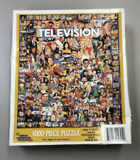 """NEW White Mountain Television History 1000 Piece Jigsaw Puzzle 24""""x30"""" 10312 TV"""