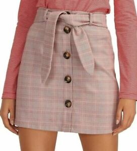THE FIFTH LABEL Installation Check Skirt. Size M, Colour: Dusty Pink. 100% Poyle