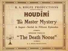 HOUDINI MASTER MYSTERY MAGICIAN ILLUSTIONIST ESCAPE ART PRINT POSTER BB7017