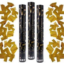 10 Konfetti Kanone Shooter GOLD Party Popper 40cm Hochzeit Konfettibombe Glanz