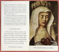 Santino Holy Card a libretto: Ven. Suor Cecilia Nobili - Nocera Umbra