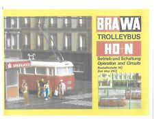 BRAWA TROLLEYBUS HO-N OPERATION & CIRCUITS BOOKLET 40pages (COPY) also for EHEIM