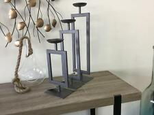 3 Pillar Steel Candle holders designer table decorations Industrial style modern