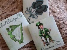 Set of 3 St.Patrick Irish Good Luck Tea Bag Envelopes